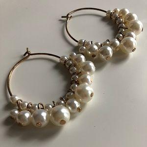 H&M Hoops with Pearls Earrings